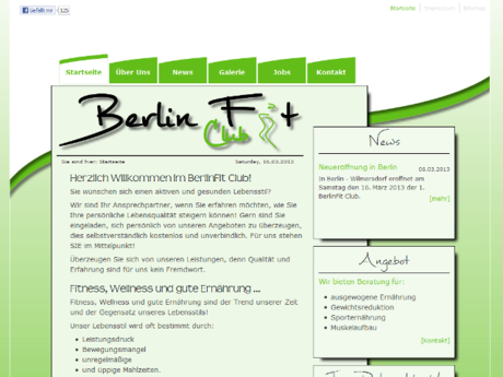 Webdesign & Layout Berlin - BerlinFit Club
