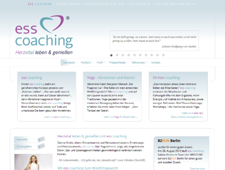 Webdesign Berlin - ess coaching Sabine Grohn